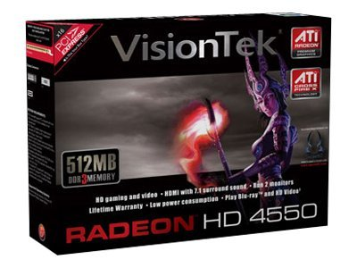 VisionTek ATI Radeon HD 4550 PCIe 2.0 x16 Low Profile Graphics Card, 512MB DDR2, 900274, 9869482, Graphics/Video Accelerators