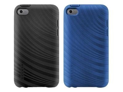 Belkin Essential 023 Case for iPod Touch 4G, Blacktop & Civic Blue (2-Pack), F8W012EBC00-2, 13625801, Digital Media Player Accessories - iPod