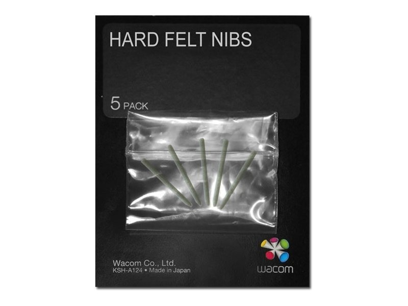 Wacom Hard Felt Nibs for Intuos4 Pen, 5-Pack, ACK20003, 12300422, Pens & Styluses