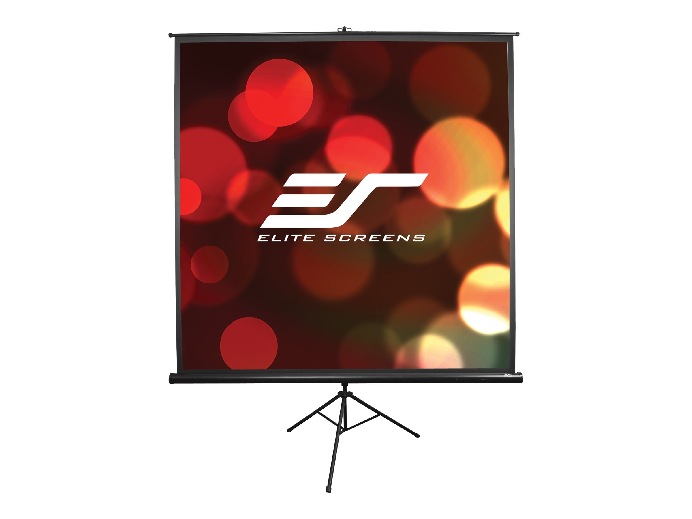 Elite Portable Tripod Pull-Up Projection Screen, Matte White, 1:1, 113in, T113UWS1, 7608967, Projector Screens