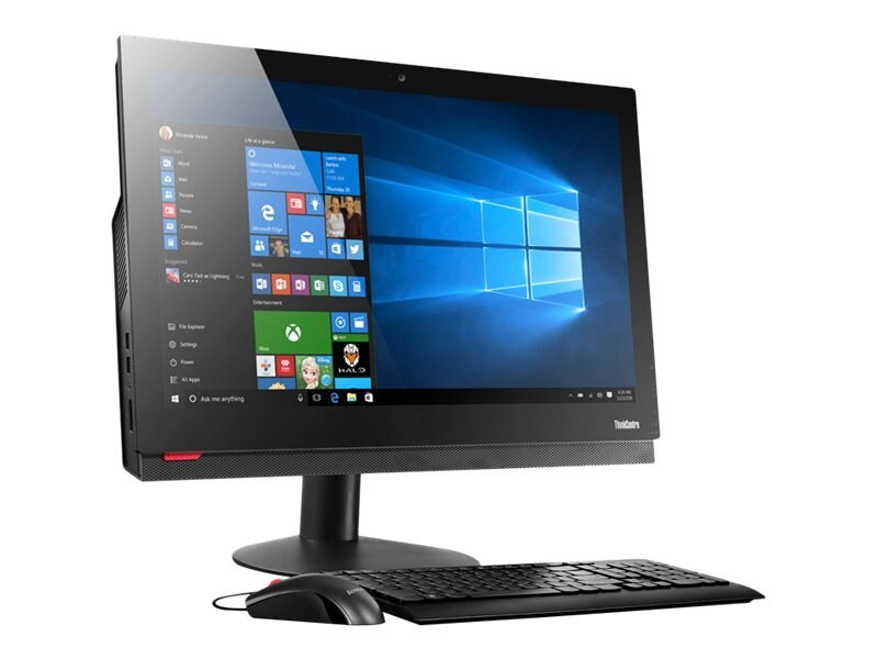 Lenovo TopSeller ThinkCentre M910Z AIO QC i5-7500 3.4GHz 8GB 256GB SSD OPAL DVDRW ac BT WC 23.8FHD W10P64, 10NS0003US