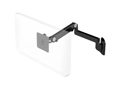 Humanscale M2 Arm Mount with Direct Hardwall Mount, Black with Black Trim, M2HB2S-IND, 17231761, Stands & Mounts - AV