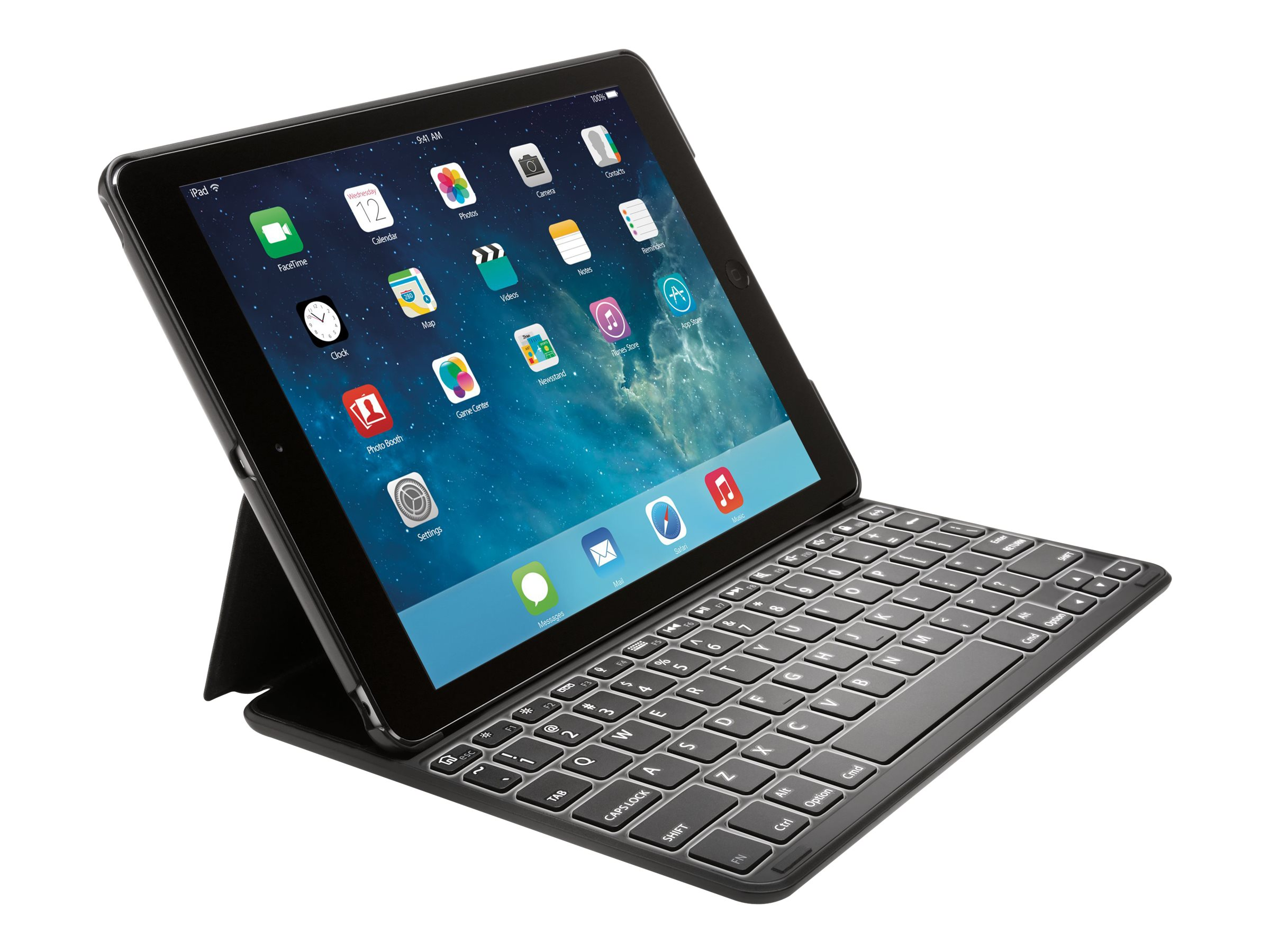 Kensington KeyFolio Thin X2 Plus for iPad Air 2, Black, K97391US, 18001466, Keyboards & Keypads