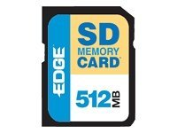 Edge 512MB Secure Digital Card, PE189419, 418637, Memory - Flash
