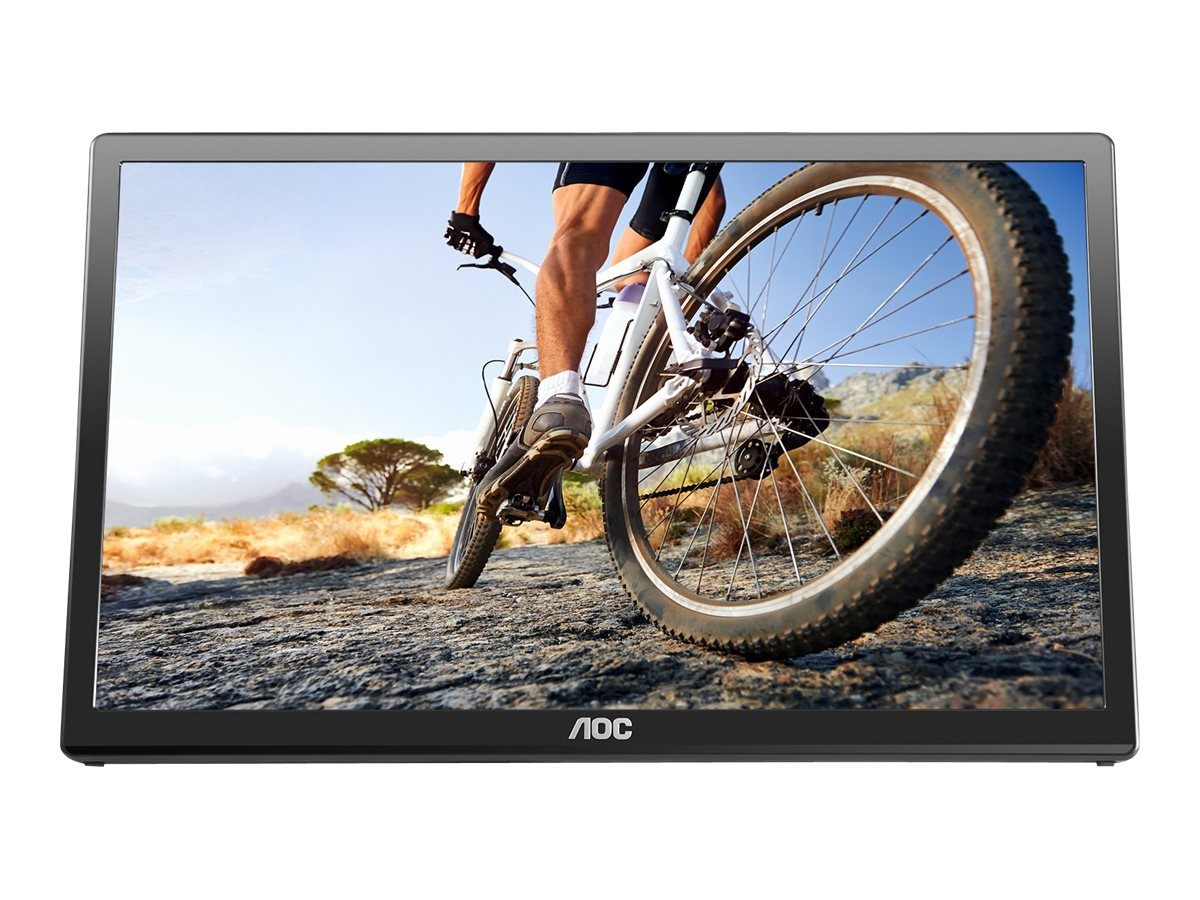 AOC 17 E1759SWU LED-LCD Monitor, Black, E1759FWU, 17809148, Monitors - LED-LCD