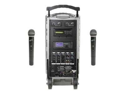 Powerpro SD Port PA w  2 HH Wireless Mics, PA919SDQ2, 20395759, Microphones & Accessories