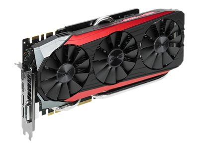 Asus NVIDIA GeForce GTX 980 TI PCIe 3.0 Overclocked Graphics Card, 6GB GDDR5, STRIXGTX980TIDC3OC6G, 25489033, Graphics/Video Accelerators
