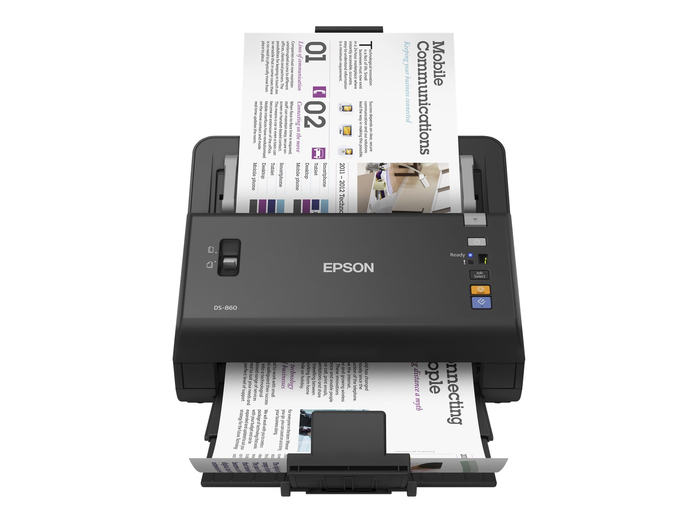 Epson WorkForce DS-860 65ppm 80-page ADF Document Scanner, B11B222201