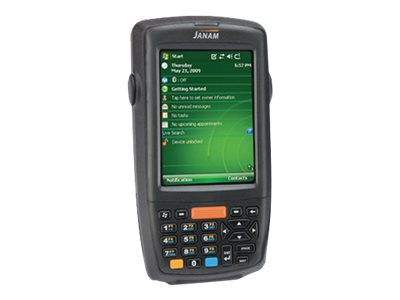 Janam XM66 Rugged Handheld Computer WLAN 802.11a b g BT 256MB 256MB 1D Imager Numeric Keypad Win Mobil 6.1