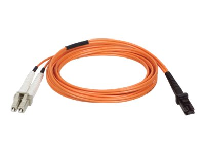 Tripp Lite Fiber Optic Cable, MTRJ-LC, 62.5 125, Duplex Multimode, Orange, 5m, N314-05M, 8194621, Cables