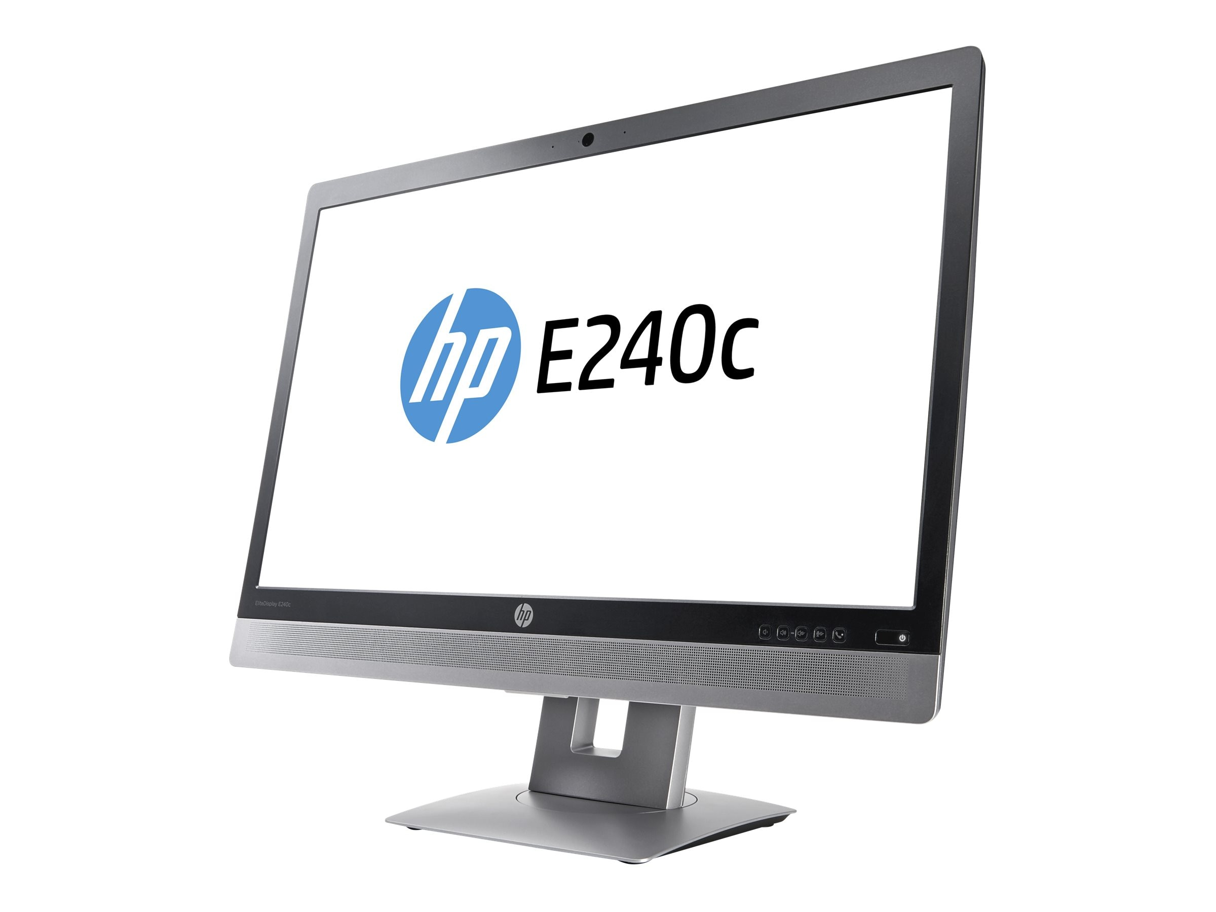 HP 23.8 E240C Full HD LED-LCD Monitor with Webcam, Black, M1P00A8#ABA