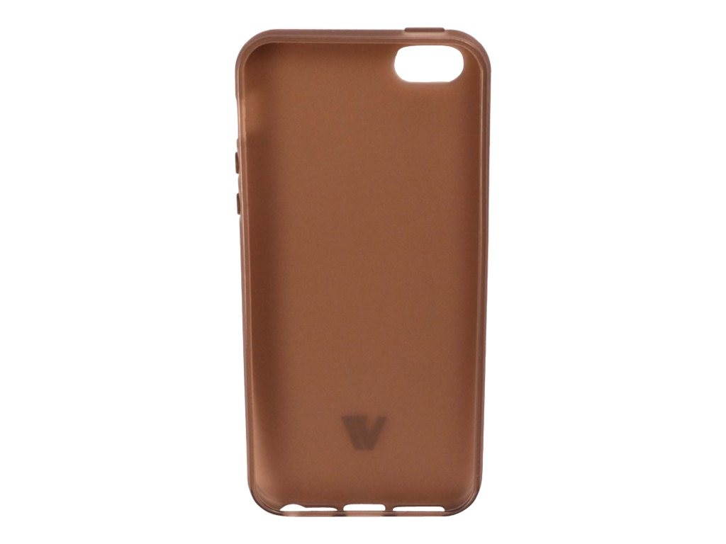 V7 Flexslim Flexible TPU Cover Case for iPhone 5, Semi-transparent, PA13SS-2N