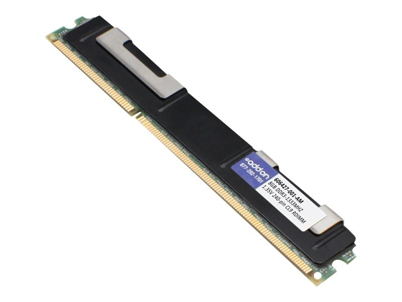 ACP-EP 8GB PC3-10600 240-pin DDR3 SDRAM RDIMM, 606427-001-AM