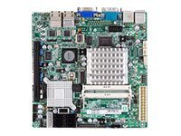 Supermicro Motherboard, Intel ICH9R, Atom D510 1.66GHz, MITX, Max 4GB DDR2, PCIEX4, 2GBE, Video, 6xSATA, MBD-X7SPA-HF-D525-O, 12495848, Motherboards