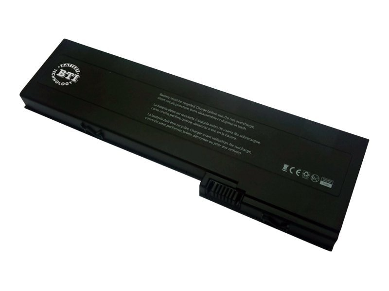 BTI Battery, Li-Ion 10.8V 4000mAh 6-cell for HP Compaq 2710P 2760P Elitebook, HP-2710P, 13090877, Batteries - Notebook
