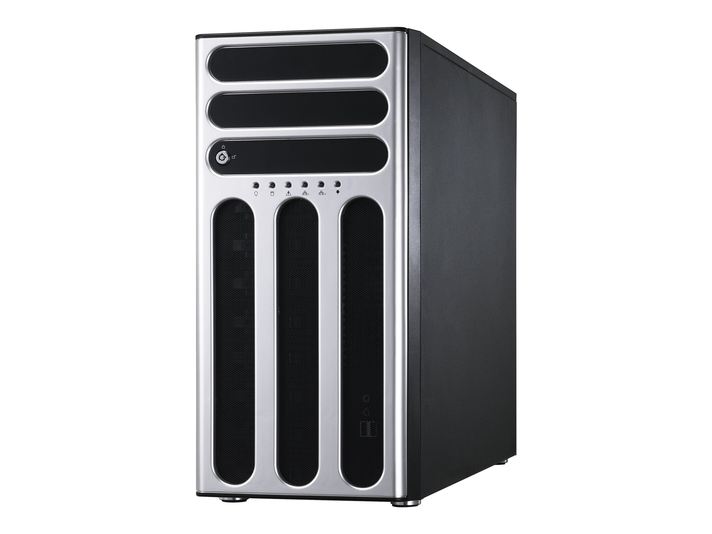 Asus TS700 Server 5U Tower (2x) Xeon E5-2600 Family Max.256GB DDR3 4x3.5 HS Bays DVDRW GNIC 500W, TS700-X7/PS4, 15022659, Servers
