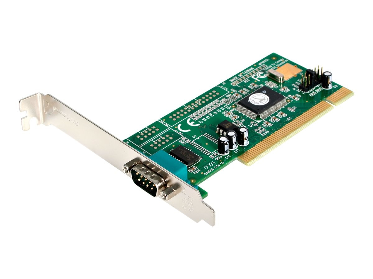 StarTech.com 1-Port Serial PCI I O Card Adapter, 16550 UART, Plug & Play, PCI1S550, 186054, Controller Cards & I/O Boards