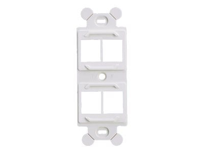 Panduit Module Frame for Standard 106 NEMA Faceplate, Accepts (4) NetKey Modules, White