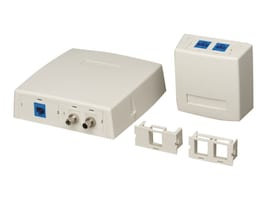 Black Box GigaStation2 Surface-Mount Housings, 1-Insert (up to 2 Ports), WPT901, 9817367, Premise Wiring Equipment