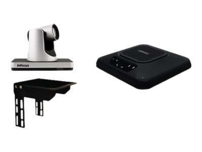 InFocus Videoconferencing Accessory Kit w PTZ Camera, Speakerphone & Bottom Camera Shelf