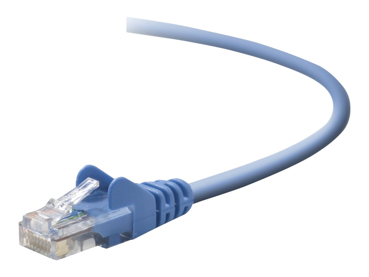 Belkin Cat5e Snagless Patch Cable, Blue, 7ft, A3L791B07-BLU-S, 6000933, Cables