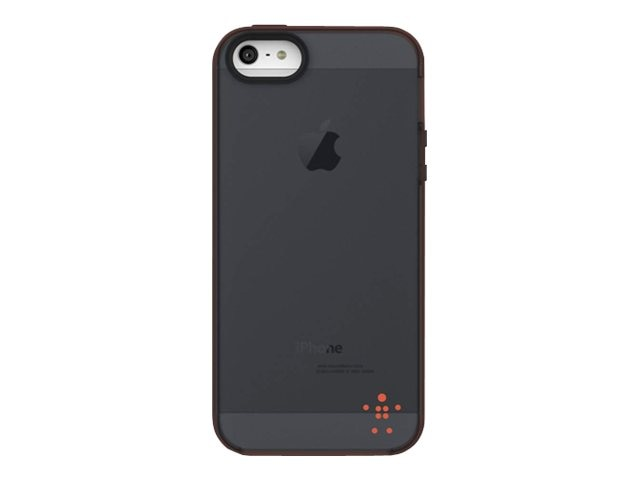 Belkin Grip Candy Sheer Case, Hazard Blacktop for iPhone 5, F8W138TTC02, 14860829, Carrying Cases - Phones/PDAs