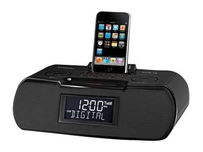 Sangean AM FM Atomic Clock Radio Dock, RCR-10BLACK