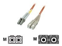 Manhattan LC-SC 62.5 125 OM1 Multimode Duplex Fiber Cable, Orange, 3m