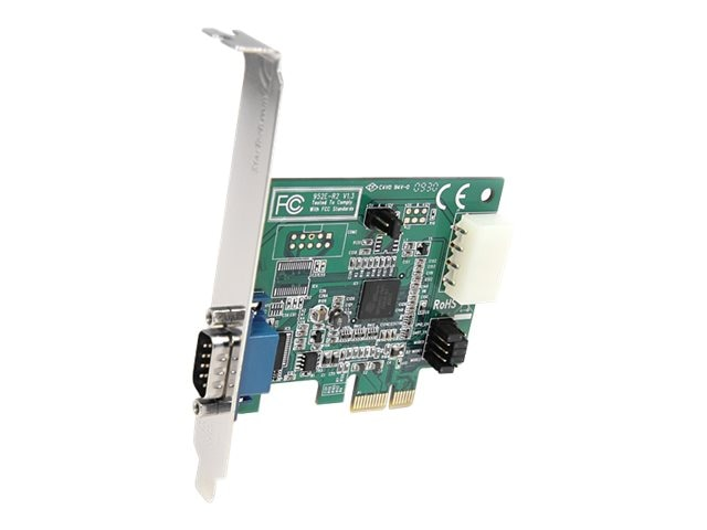 StarTech.com 1 Port Native PCI Express RS232 Serial Adapter Card with 16950 UART, PEX1S952, 9081880, Controller Cards & I/O Boards