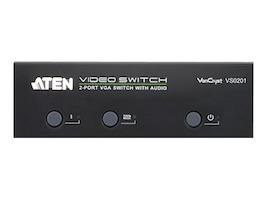 Aten 2 Port VGA Audio Switch, VS0201, 15222079, Switch Boxes - AV