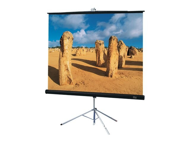 Draper Diplomat Portable Projection Screen, Glass Beaded, 1:1, 96 x 96, 213016