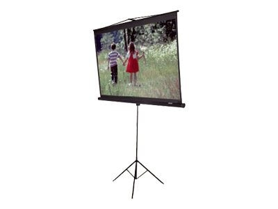 Elite Tripod Series Portable Projection Screen, Matte White, 1:1, 113in