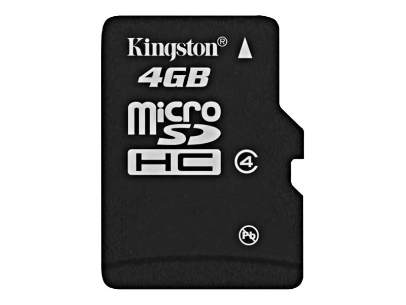 Kingston 4GB microSecure Digital High Capacity Class 4 Card, SDC4/4GB, 8029941, Memory - Flash