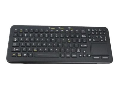 iKEY Rechargeable Wireless Keyboard w  Touchpad and Cleanlock Key, SBW-97-TP-BLK