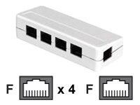 Black Box RJ45 5-Position Shielded Modular Splitter T568A, FM810-R2, 5949258, Cables