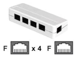 Black Box RJ-45 Modular Splitter, 5-Position, 8 x 8, Unshielded, A Pinning, FM800-R2, 32874853, Adapters & Port Converters