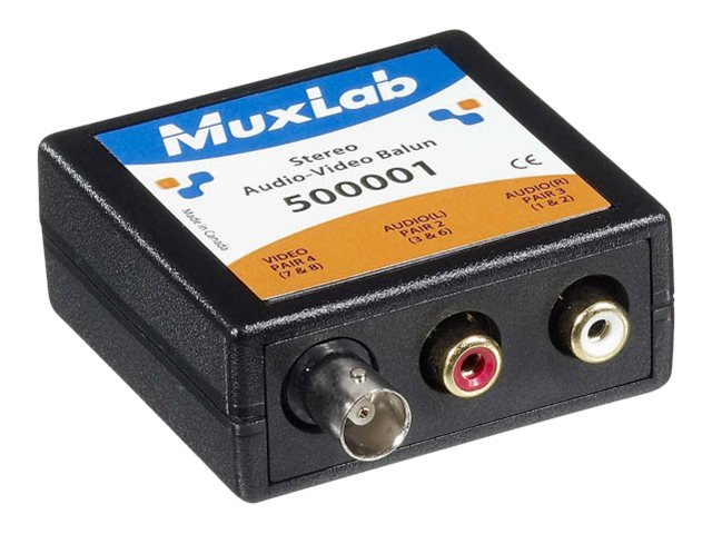 MuxLab Stereo Audio-Video Balun, 500001, 16054142, Video Extenders & Splitters