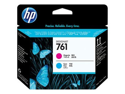 HP 761 Magenta Cyan Designjet Printhead, CH646A, 12712460, Ink Cartridges & Ink Refill Kits