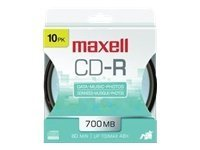 Maxell 648450 CD-R Hanging Spindle 10p, 648450, 10239867, CD Media