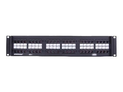 Hubbell Category 5e Hinged Fold-Down Panels, 48-port Universal, Rackmount (P5E48UF19), P5E48UF19, 467649, Patch Panels