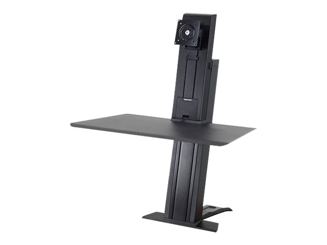 Ergotron WorkFit-SR, Heavy Monitor, Sit-Stand Desktop Workstation, Short Surface, Black, 33-421-085