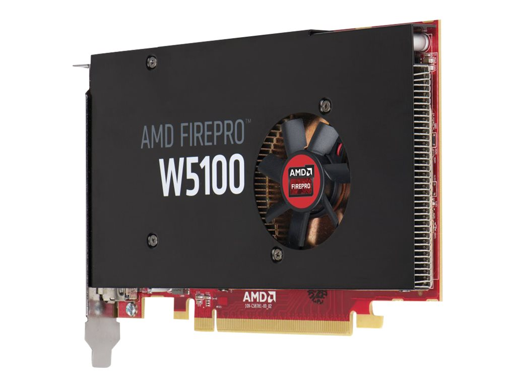HP Smart Buy AMD FirePro W5100 PCIe 3.0 x16 Graphics Card, 4GB GDDR5, J3G92AT, 18465658, Graphics/Video Accelerators