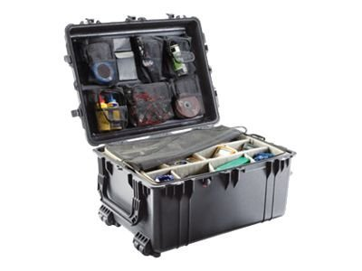 Pelican 1634 Transport Case w  Dividers, Black, 1630-004-110, 16222636, Carrying Cases - Other