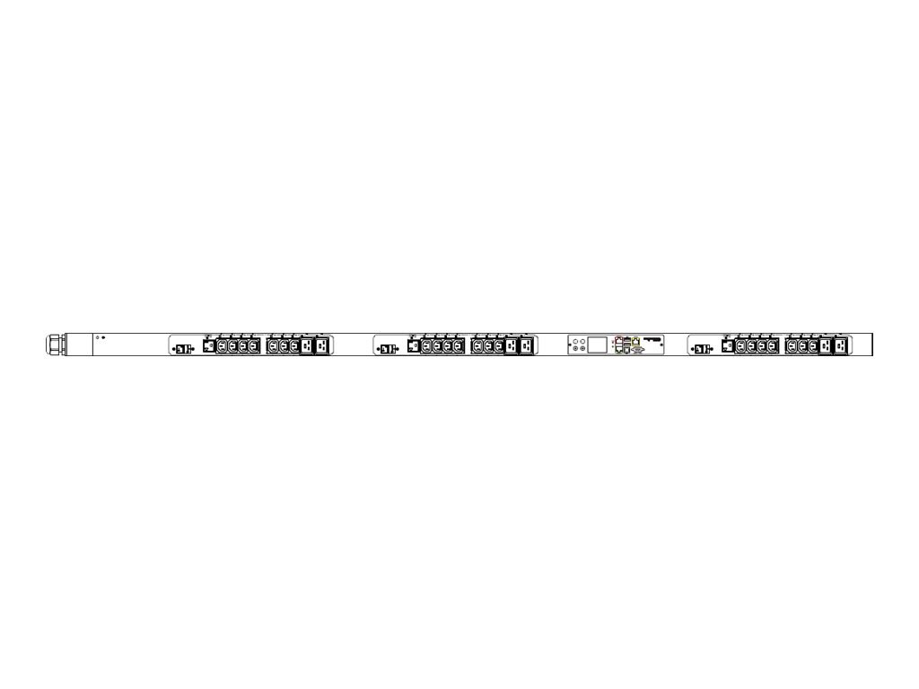 Raritan PDU 208V 24A 3-ph L21-30P Input (21) C13 (6) C19 (3) 5-20R Outlets, PX3-5660V, 18173786, Power Distribution Units