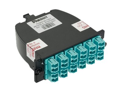 Panduit OM3 24-Fiber Total, Standard Loss, LC Duplex Adapter Cassette, FC2XN-24-10AS, 27569096, Premise Wiring Equipment