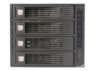 StarTech.com 4 Drive 3.5in Trayless Hot Swap SATA Mobile Rack Backplane, HSB430SATBK