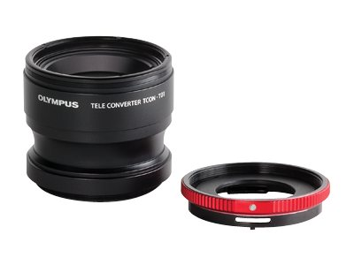 Olympus TCON-T01 & CLA-T01 Telephoto Tough Lens Pack, V321180BW020, 16211401, Camera & Camcorder Lenses & Filters