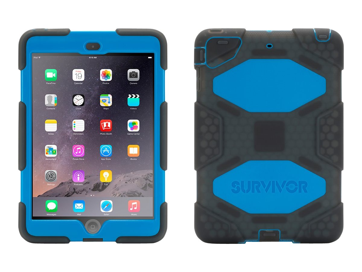 Griffin Survivor Case for iPad mini 1 2 3, Smoke Blue