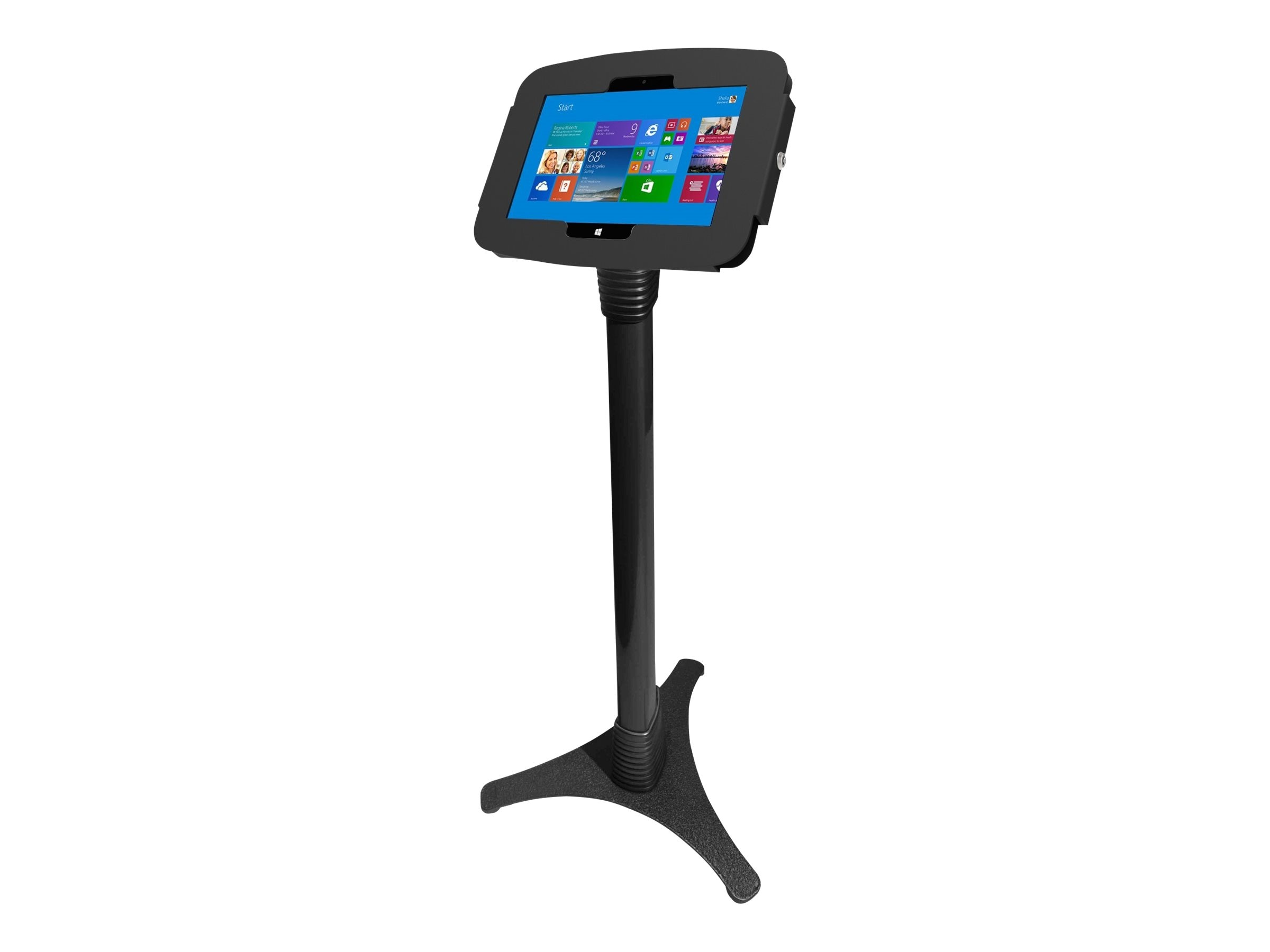 Compulocks Space Surface Adjustable Floor Stand Kiosk with Security Lock for Surface 3, 147B518GEB