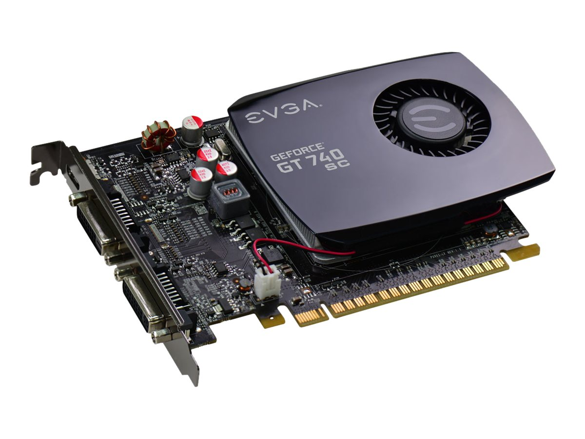 eVGA GeForce GT 740 Superclocked Graphics Card, 2GB GDDR3, 02G-P4-2742-KR, 17405389, Graphics/Video Accelerators